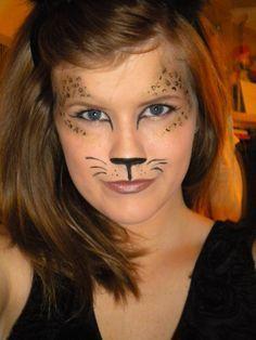 face paint cat food kids makeup leopard makeup. Black Bedroom Furniture Sets. Home Design Ideas