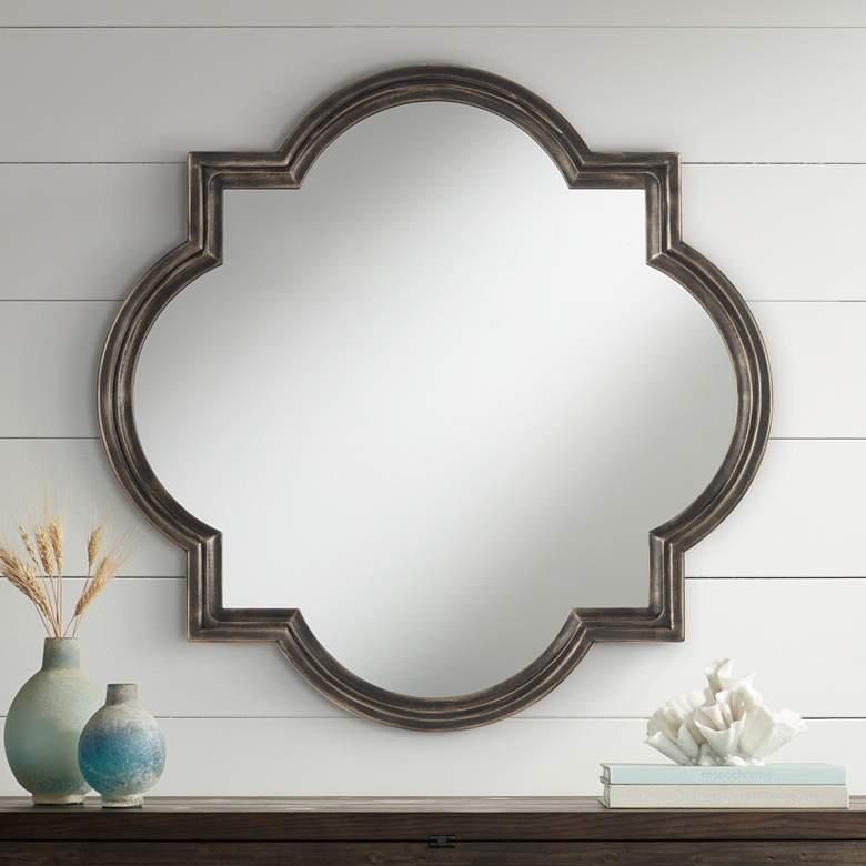 Uttermost Oil Rubbed Bronze 34 Quatrefoil Wall Mirror 87m35 Lamps Plus In 2021 Framed Mirror Wall Mirror Wall Frames On Wall Oil rubbed bronze round mirror