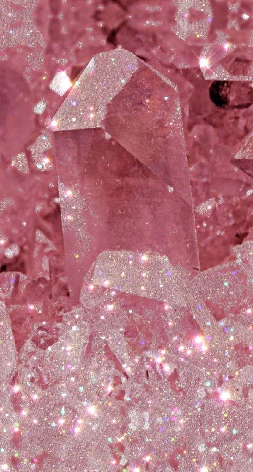 Glitter Minerals Pink Glitter Wallpaper Pink Tumblr Aesthetic Pink Neon Wallpaper Aesthetic wallpaper bling pink