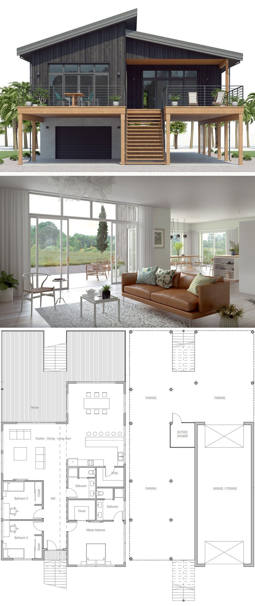 Beach Home Plan Coastal House Plan Coastal House Plans Modern Architecture House House Layouts