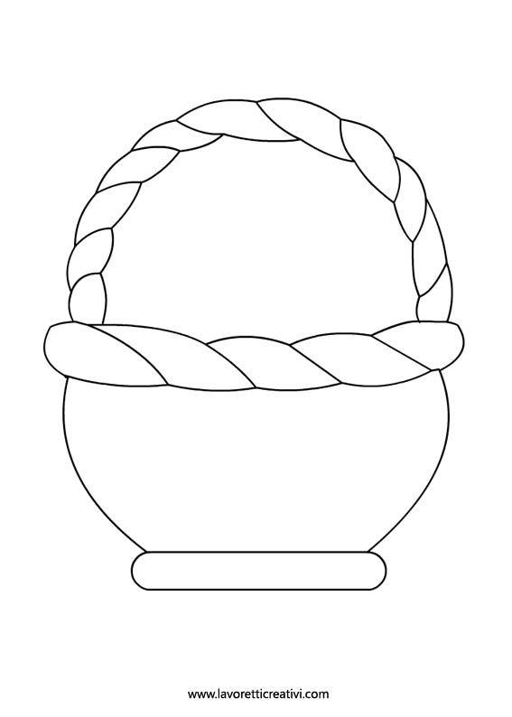 Easter Basket Template Desenler Boyama Sayfalari Sanat Okulu