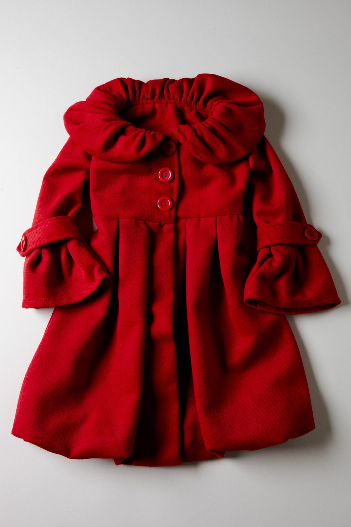 2f822cd83 Red Bubble Coat for a Little Girl  Cute