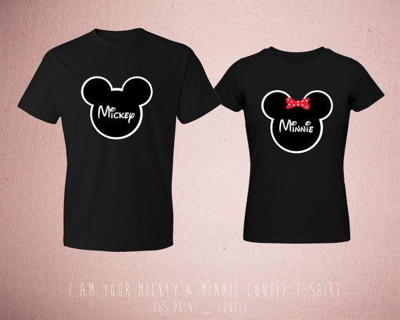 16130ab8b1 Disney Matching Couple T Shirts Cute Couples by 365inlovedotcom, $30.99