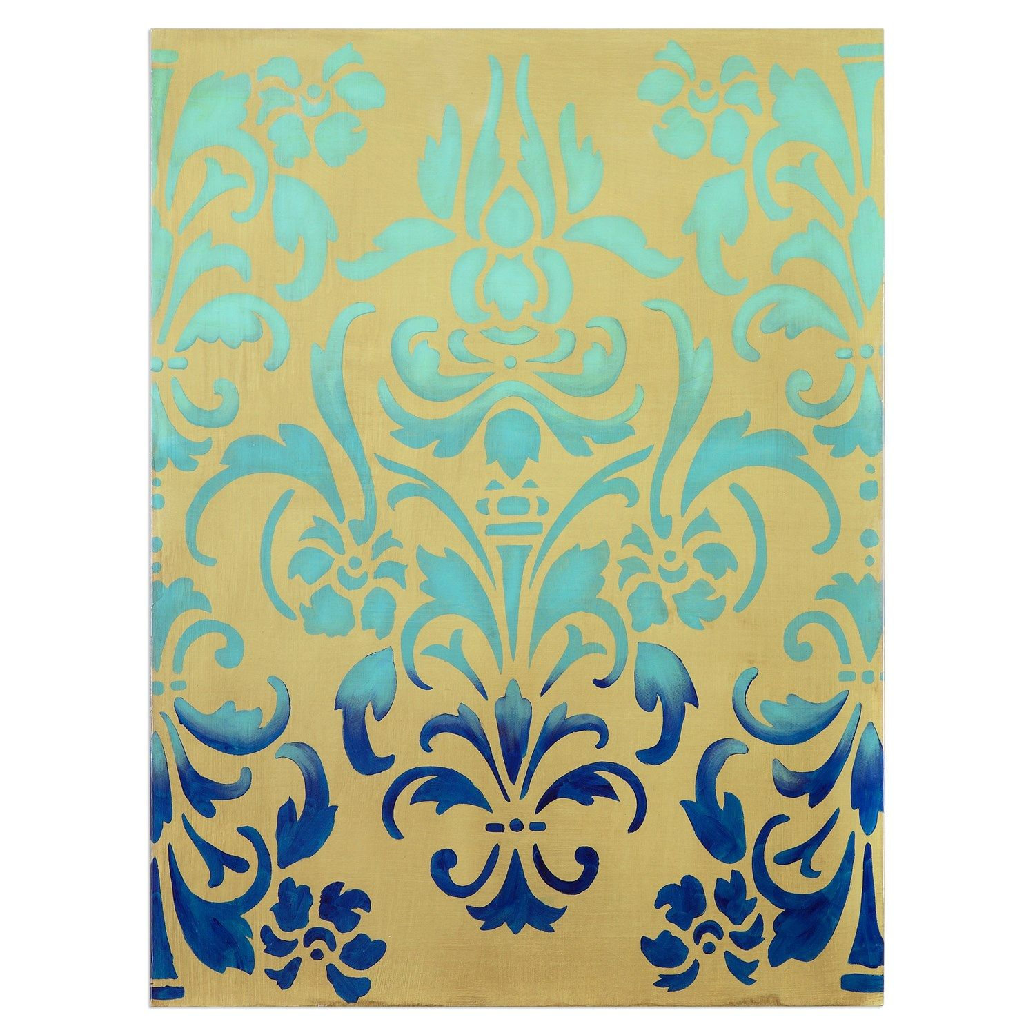 Uttermost 34420 Blue Ombre Stencil Art | Blue ombre, Ombre and ...