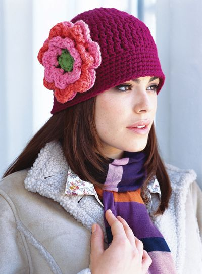 floral cloche pattern with great flower pattern | Head Covers ...