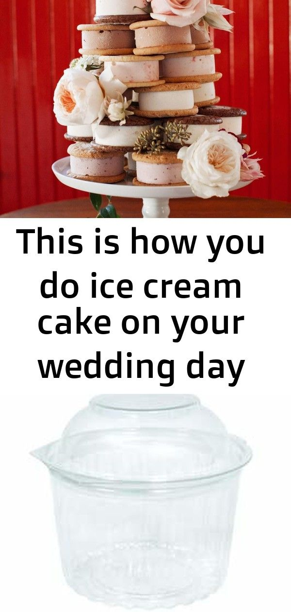 This is how you do ice cream cake on your wedding day Ice Cream Sandwich Wedding Cake Lemon Coconut Sandwich CookiesFilled with our quick to make and ohsotart homemade cu...