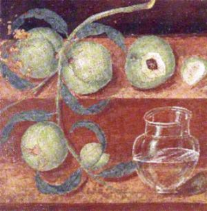 roman fresco pompeii still life - Google Search