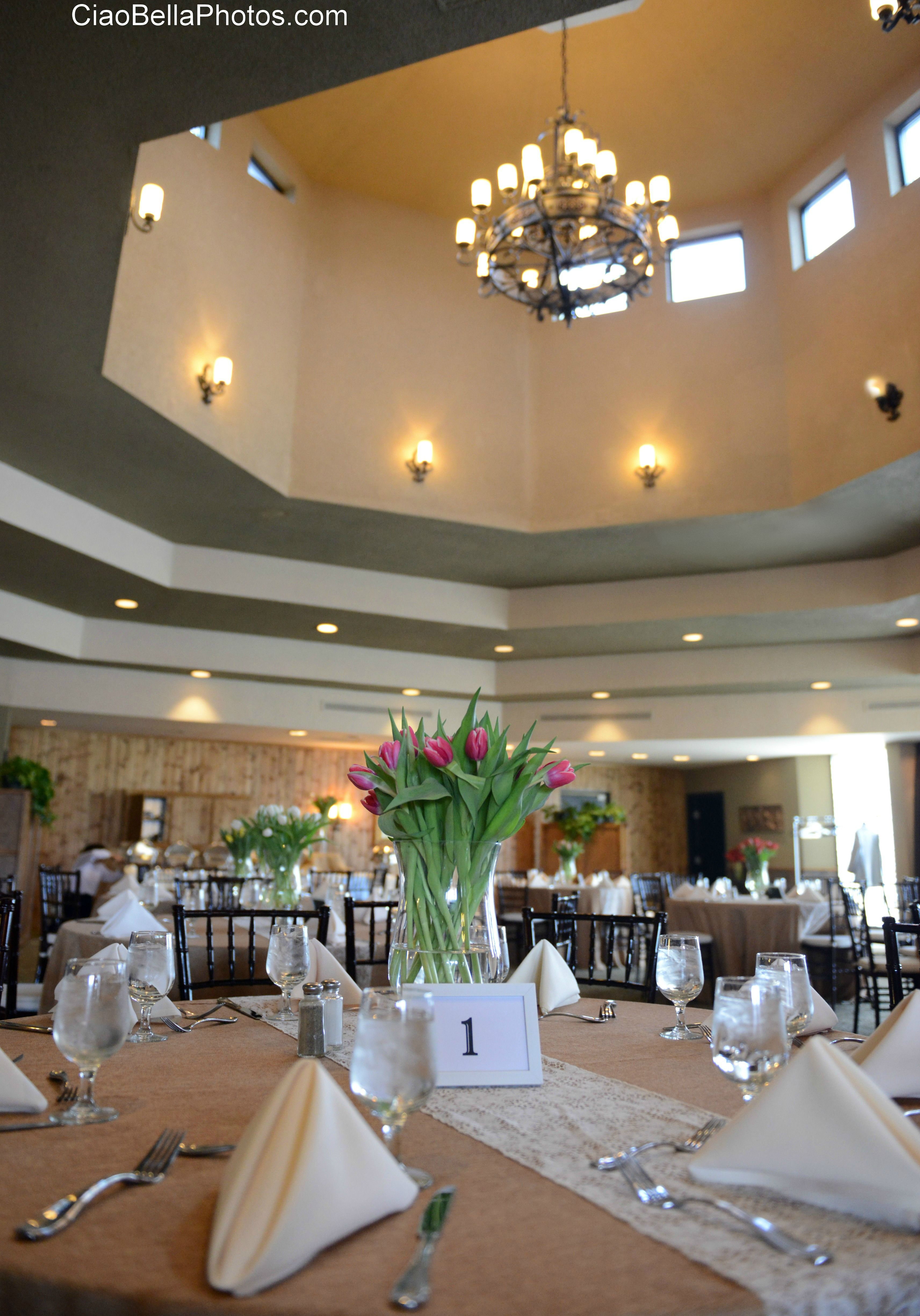 The banquet hall at Stoneridge Events Center, from the wedding ...