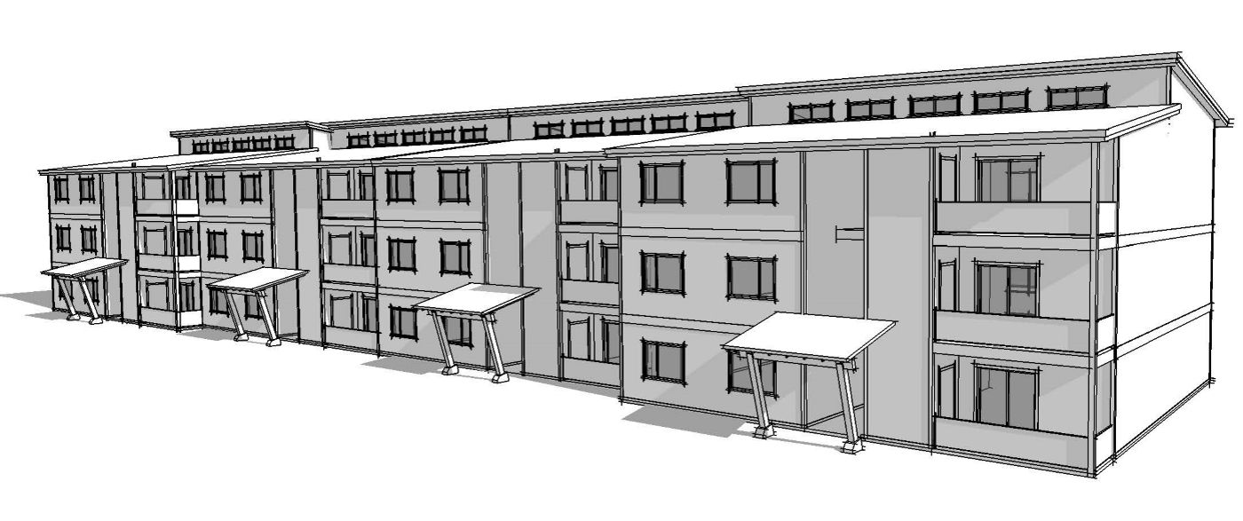 Beacon Builders Is Using Clt And Flat Packs For The 36 Unit First Phase Of The Cheney Park Apartments In Cheney Cost Is 125 P Modular Housing Builder House
