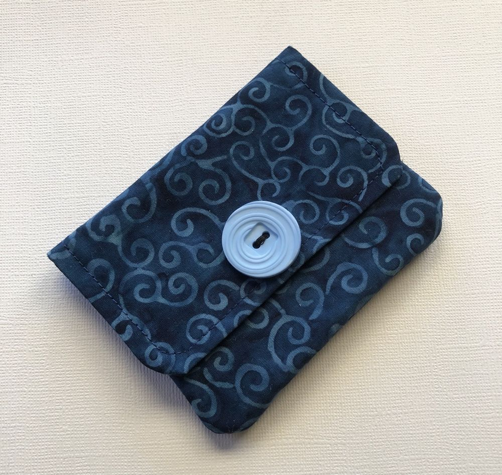 Credit Card Holder Gift Card Holder Blue Batik Fabric Business Card ...