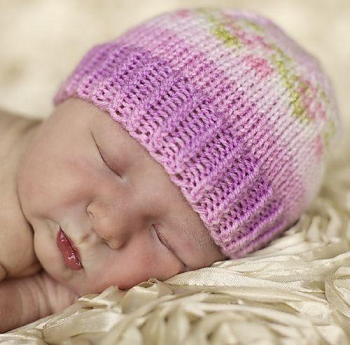 Free Pattern: Not-all-Purple Newborn Hat by Olha. Bernat Baby ...