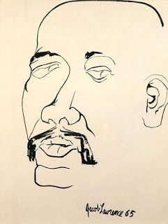 """Self Portrait,"" 1965, Jacob Lawrence"