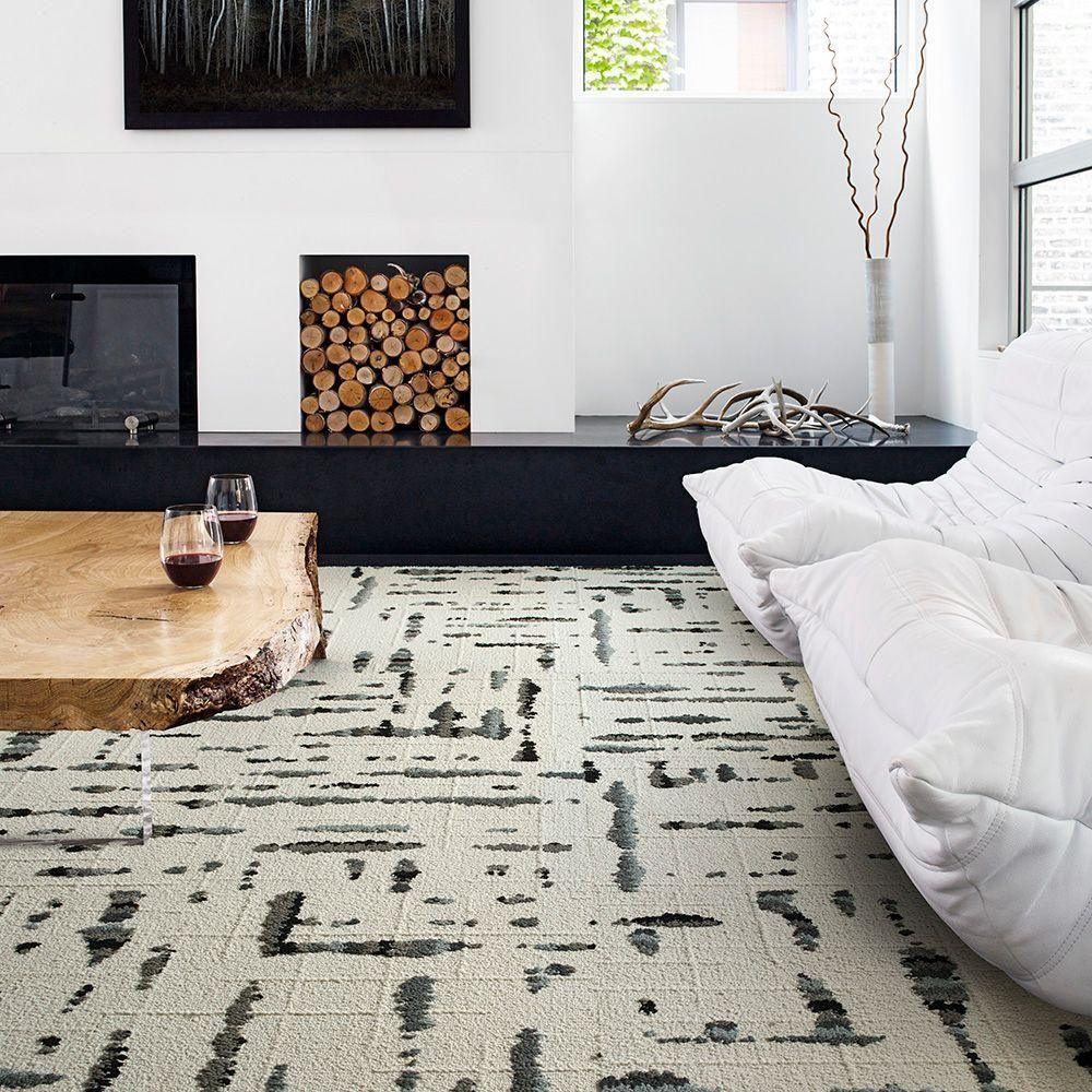 FLOR Lilting Grey 19.7 in. x 19.7 in. Carpet Tile (6 Tiles/Case)-68 ...