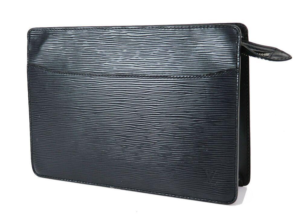 23ed6297deac eBay  Sponsored Authentic LOUIS VUITTON Pochette Homme Black Epi Leather  Clutch Bag  32036
