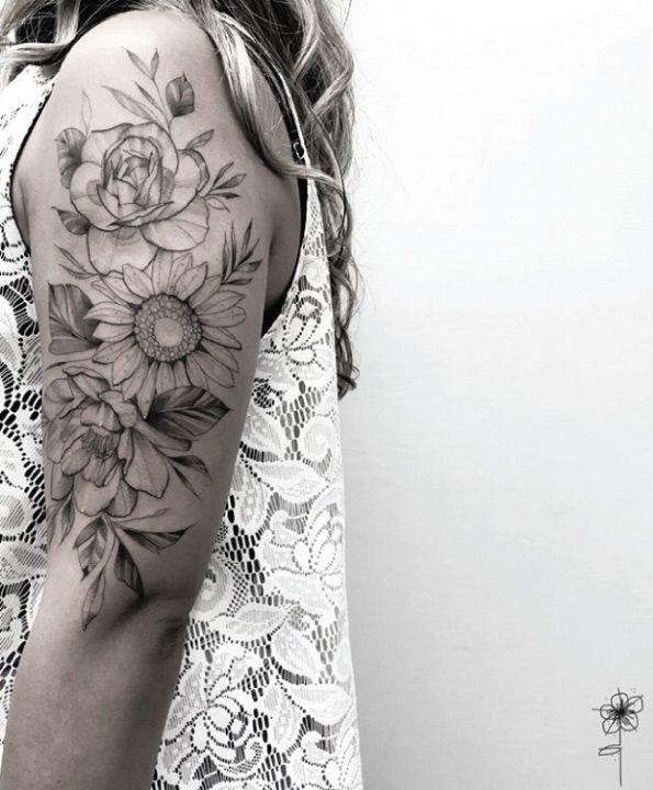 Floral Design Floral Tattoo Sleeve Flower Tattoo Shoulder Sleeve Tattoos For Women
