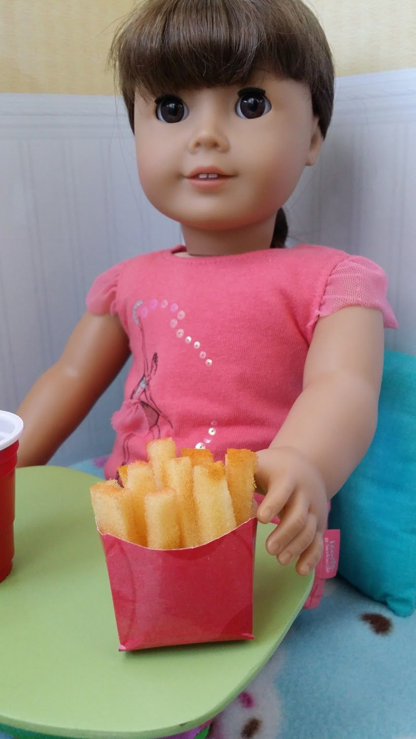 American Girl Doll Crafts and Fun!: Craft: Make Doll French Fries #americangirldollcrafts