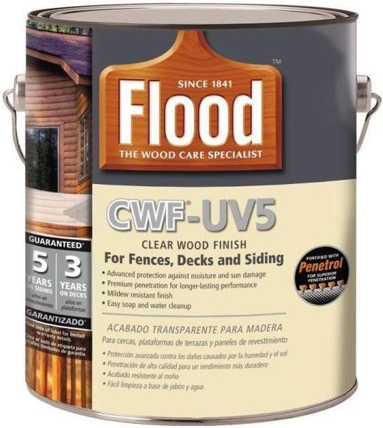 Flood Fld465 01 Cwf Uv5 Wood Finish Natural 1 Gallon Wood Finish Flood Exterior Wood