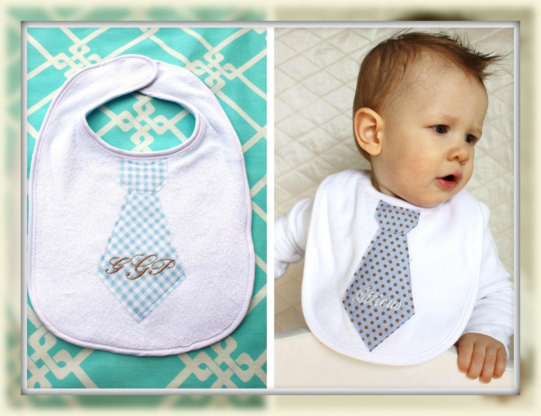 Plaid Baby Boy  Bandana Bib Monogrammed Baby Personalized Baby Bandana Bib