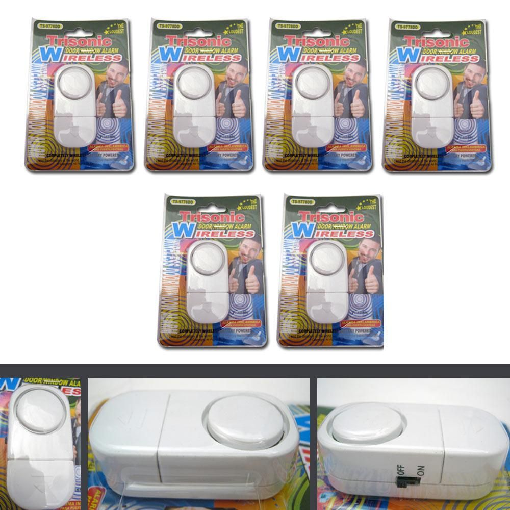 6 Pack Wireless Door And Window Entry Alarm Battery Home System