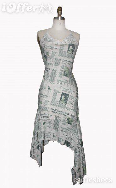 40bb4cbece Newsprint Dress (iOffer) Newspaper Dress, Newspaper Printing, Big Closets, John  Galliano
