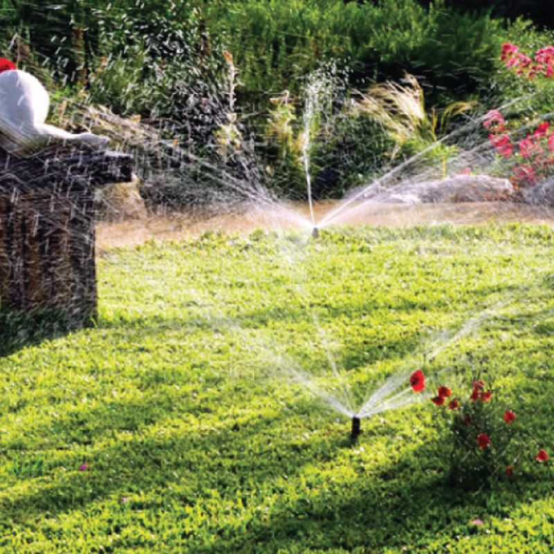 Features lawn sprinker b seater lawn sprinkler 1plug into
