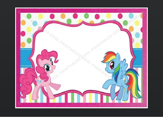 Graphics For My Little Pony Birthday Graphics Wwwgraphicsbuzzcom - My little pony birthday party invitation template