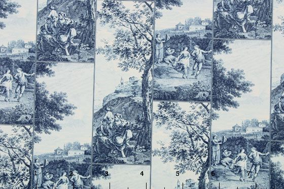 Countryside blue toile