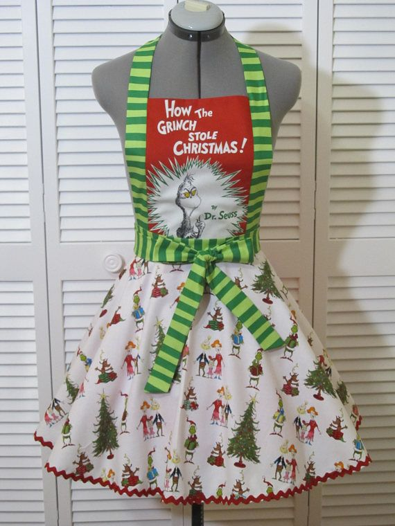 4cef275fb7d4 Ready to Ship The Grinch Inspired Apron How the Grinch | Bridal ...