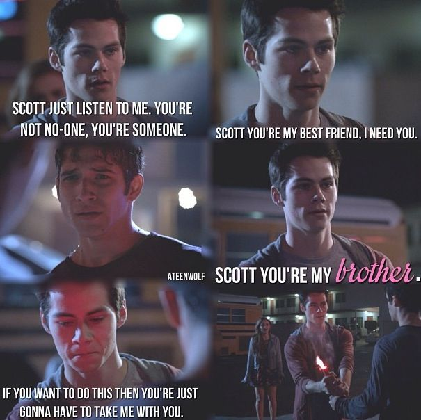 Awww. Like if Scott died, I'm pretty sure I'd die too. But Stiles was so cute in trying to save everyone, and Lydia was amazing.
