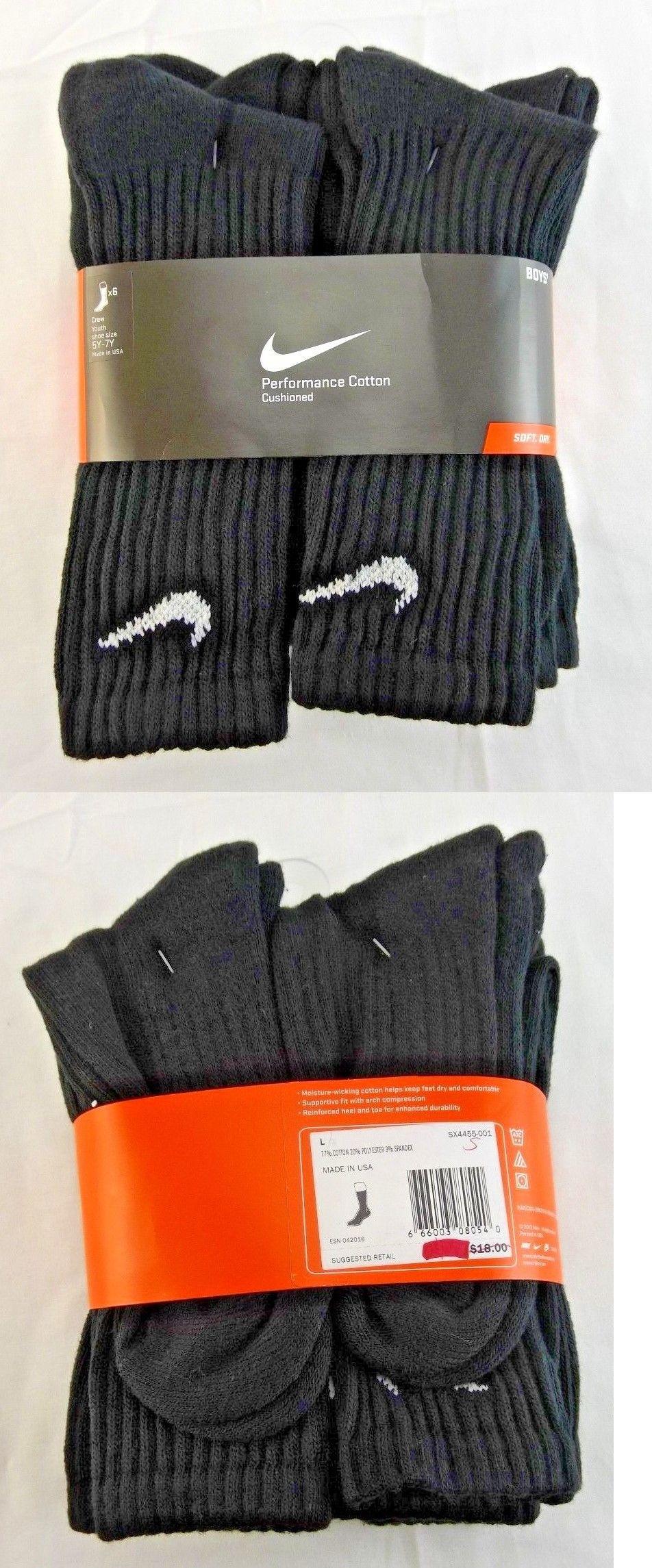 Socks 153564: Boys Nike Performance Cushion Crew Sock (6 Pair