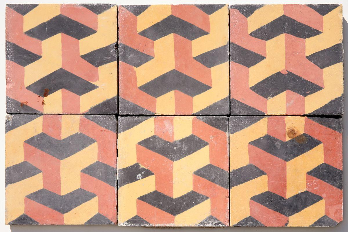 Reclaimed encaustic tiles its like installing an mc escher on reclaimed encaustic tiles its like installing an mc escher on your floor dailygadgetfo Gallery