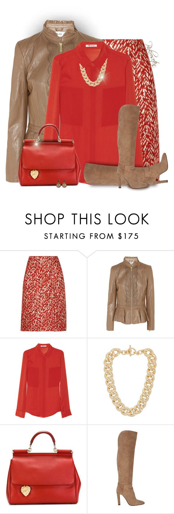 """Metallic Clothing"" by pinkroseten ❤ liked on Polyvore featuring Marni, Alice by Temperley, T By Alexander Wang, Michael Kors, Dolce&Gabbana, Gabriela Hearst and Kate Spade"