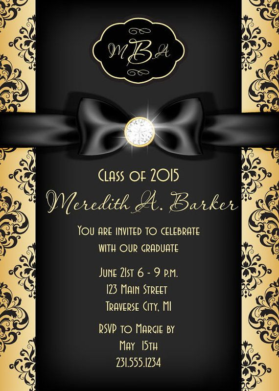 graduation announcement  printable graduation invitation formal  gold glitter grad template