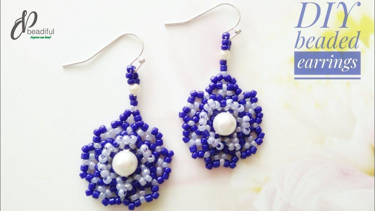Easy Seed Beads Earrings Beaded Flower Earrings How To Make Beaded Earrings Diy Jewelry Youtub Beaded Jewelry Diy Beaded Earrings Seed Bead Earrings