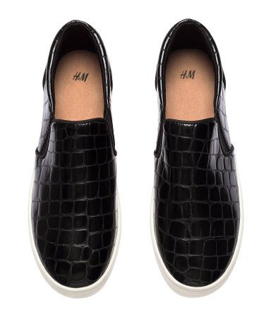 a88230f88d9 Shoes in imitation leather with elastic side panels and rubber soles ...