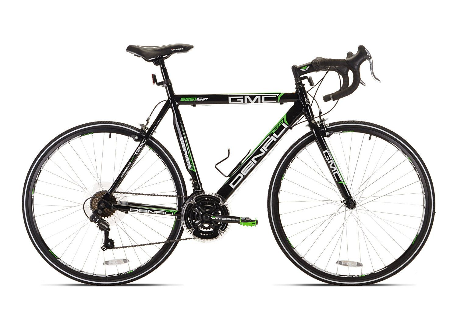 Amazon Com Gmc Denali Road Bike Black Green 20 Inch Small