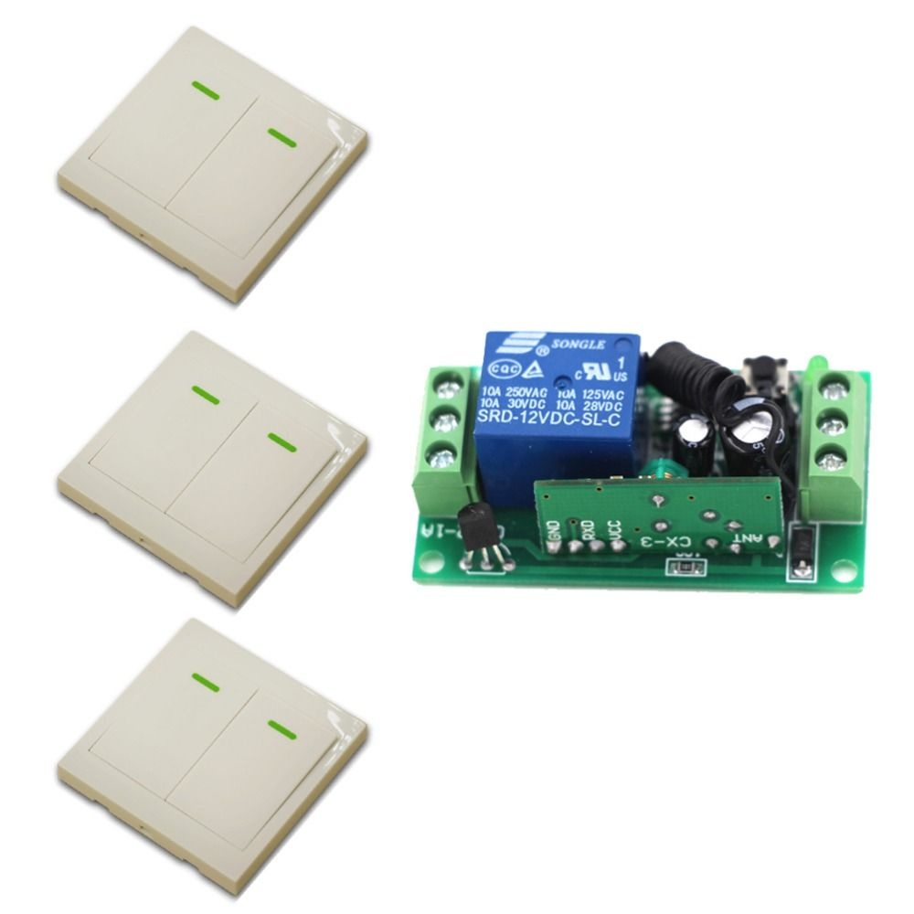 9v 12v 24v smart home wall switch remote control switch 2 on wall control id=72603