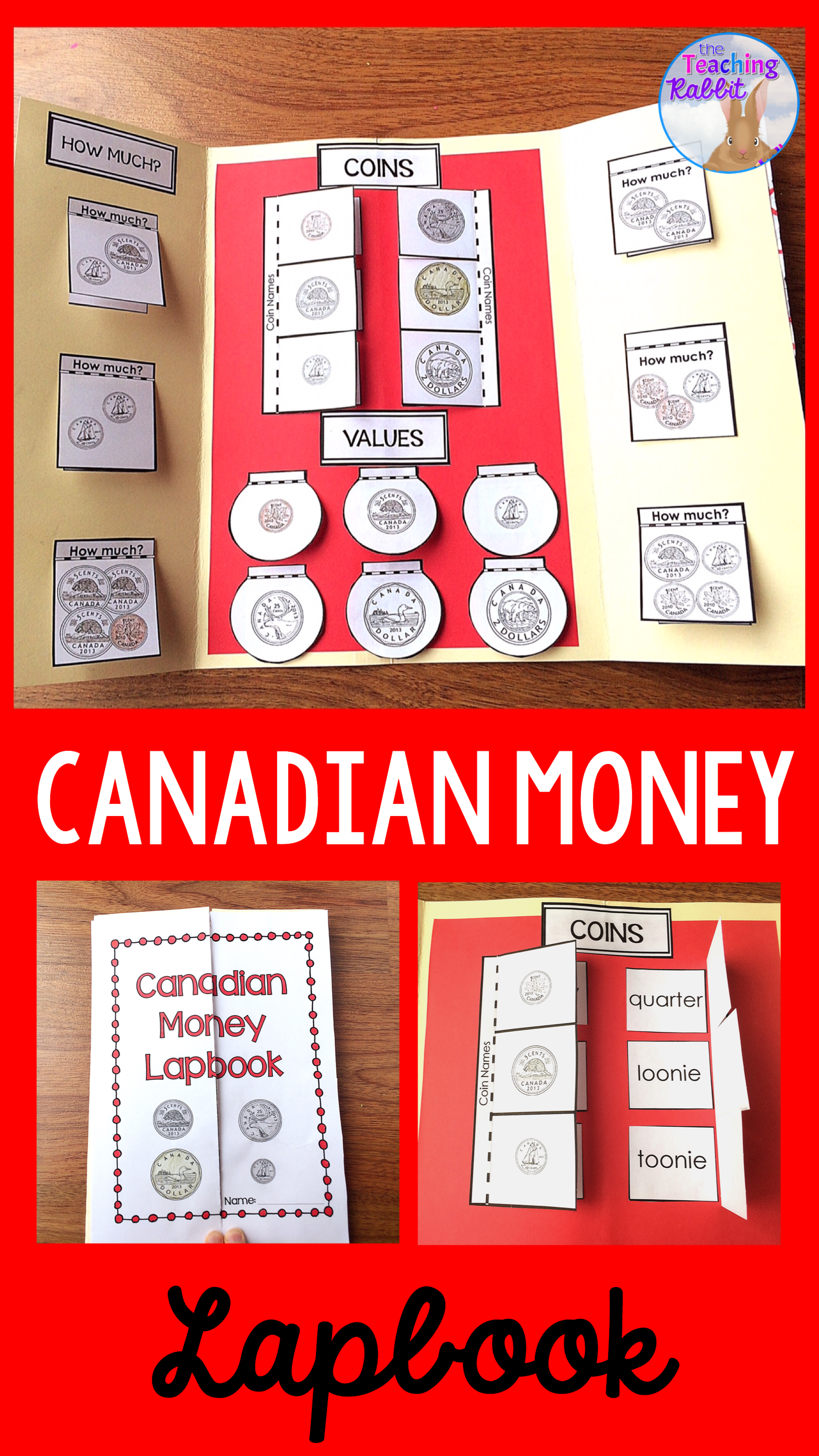 Canadian Money Lapbook Grade 1