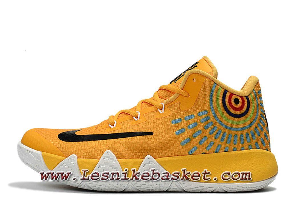 Basket Nike Kyrie 4 Jaune/Noires Chausport Nike Pas Cher Pour HOmme