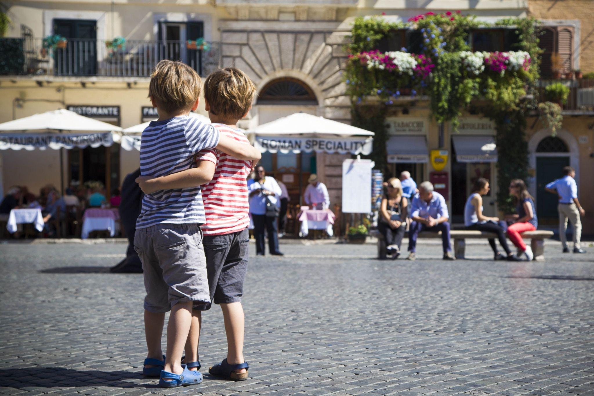 """""""- Saremo per sempre fratelli. - Promesso? Ogni giorno? Col sole o con la pioggia? Col caldo o col gelo? - Promesso.""""      Rome- Italy"""