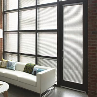 Levolor 1 Inch Riviera One Mini Blinds Blinds Com Contemporary Family Rooms Masculine Living Rooms Aluminum Blinds