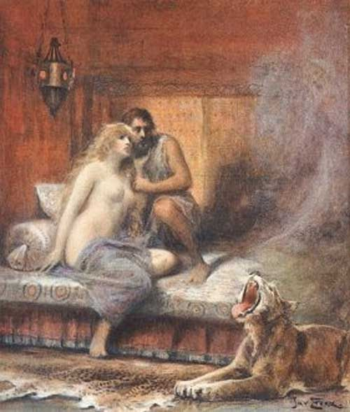 Jan Styka Odysseus In Bed With Divine Circe Tags