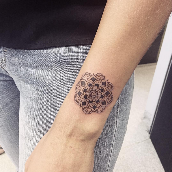 Small Mandala Tattoo Small Mandala Tattoo Tattoos For Women Simple Mandala Tattoo