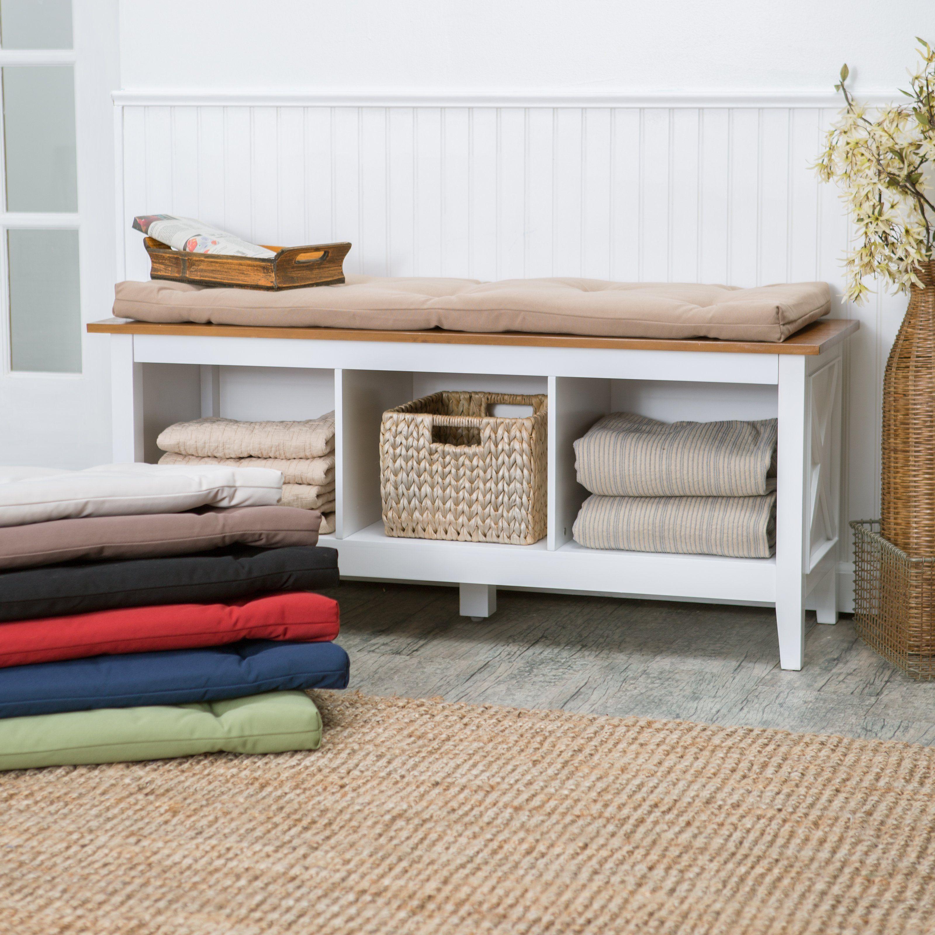Deauville 45 X 16 Storage Bench Cushion Www Hayneedle Com Indoor Storage Bench Living Room Storage Bench Storage Bench With Cushion
