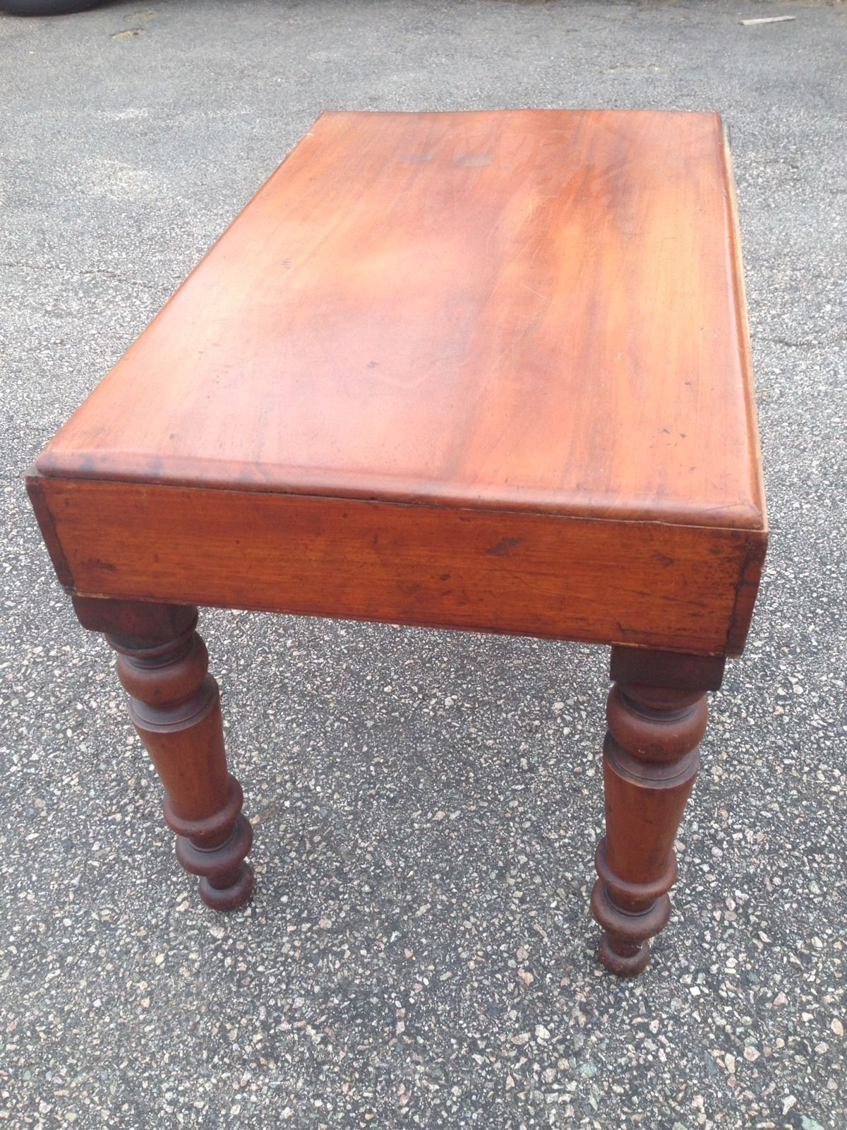 Antique Wooden Child s Bath Wash Basin Sink Cabinet Country House