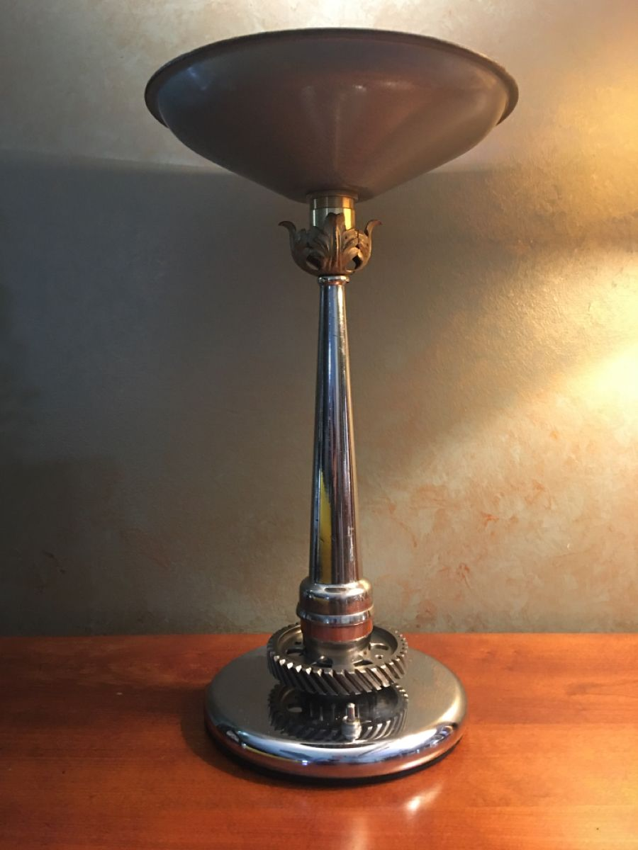 Fire Hose Nozzle Art Deco Lamp In 2020 Lamp Art Lamp Art Deco Lamps