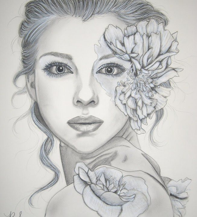 Beautiful Nature Pencil Drawings: Beautiful Sketches Of Flowers