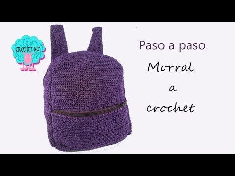 Tutorial morral/mochila a crochet - YouTube | bolsa | Pinterest ...