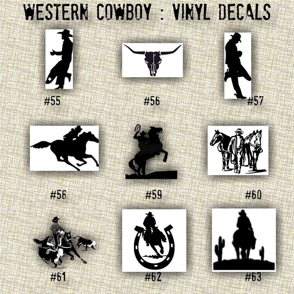 COWBOY Vinyl Decals Country Western Country Boy Car Decals - Vinyl stickers for laptops