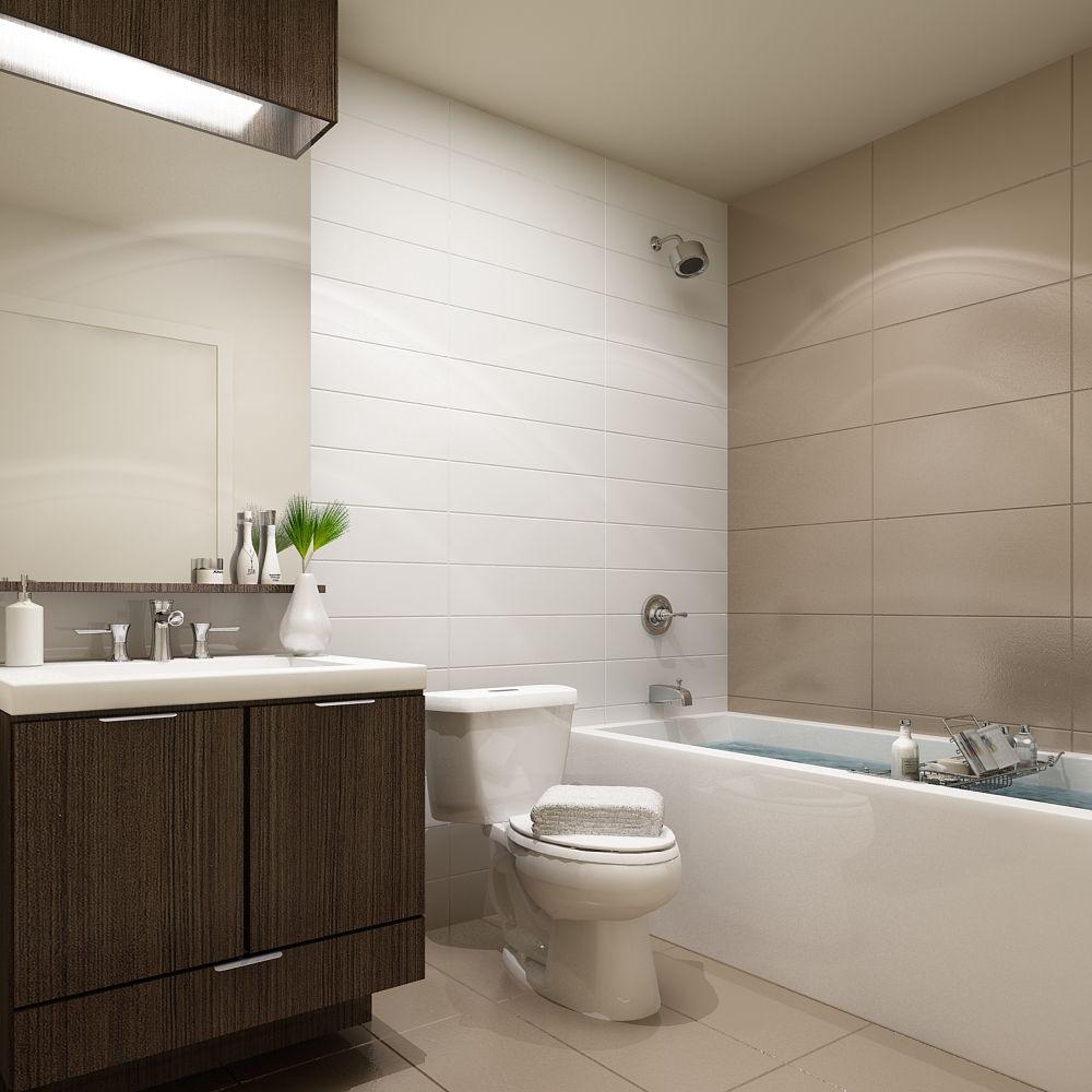 101 erskine collection  sample bathroom  condo design